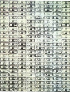 Andy Warhol 192 One Dollar Bills, 1962