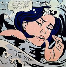 Roy Lichtenstein Drowning Girl, 1963
